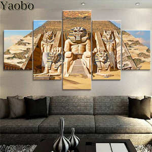 Многоцветные Египетские пирамиды 5D алмазная Картина Вышивка крестом полная Алмазная вышивка Стразы мозаичное украшение 5 шт.