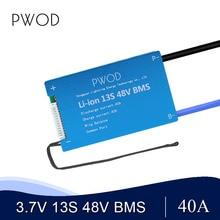 סוללה bms 3,6 V 3,7 V 13S 48V BMS 18650 15A 20A 30A 40A 60A BMS עבור 48V e אופניים Li batterie ionen