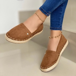 Women Canvas Loafers Casual Board Shoes Hemp Women's Shoes Soft Breathable Flat Lightweight Ladies Platform Sneakers Plus Size