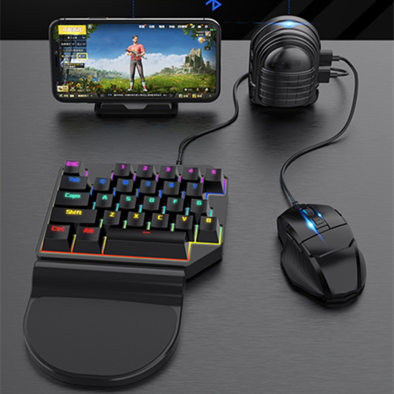 Game Keyboard Converter Mobile Game Peripherals USB ABS Game Controller Free Adjustable Mobile Stand New
