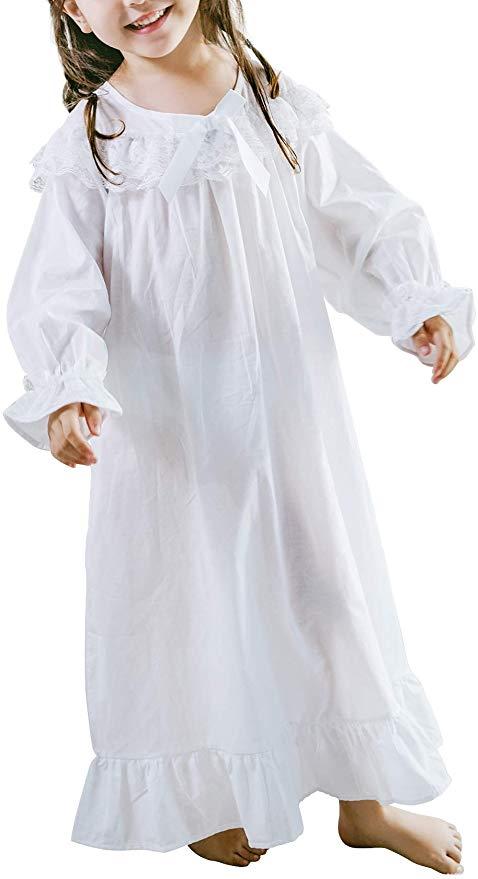 Baby Girl Clothes Princess Nightgown Long Sleeve Sleep Shirts Nightshirts Pajamas Christmas Dress Sleepwear kids for 3-12 Years (3)