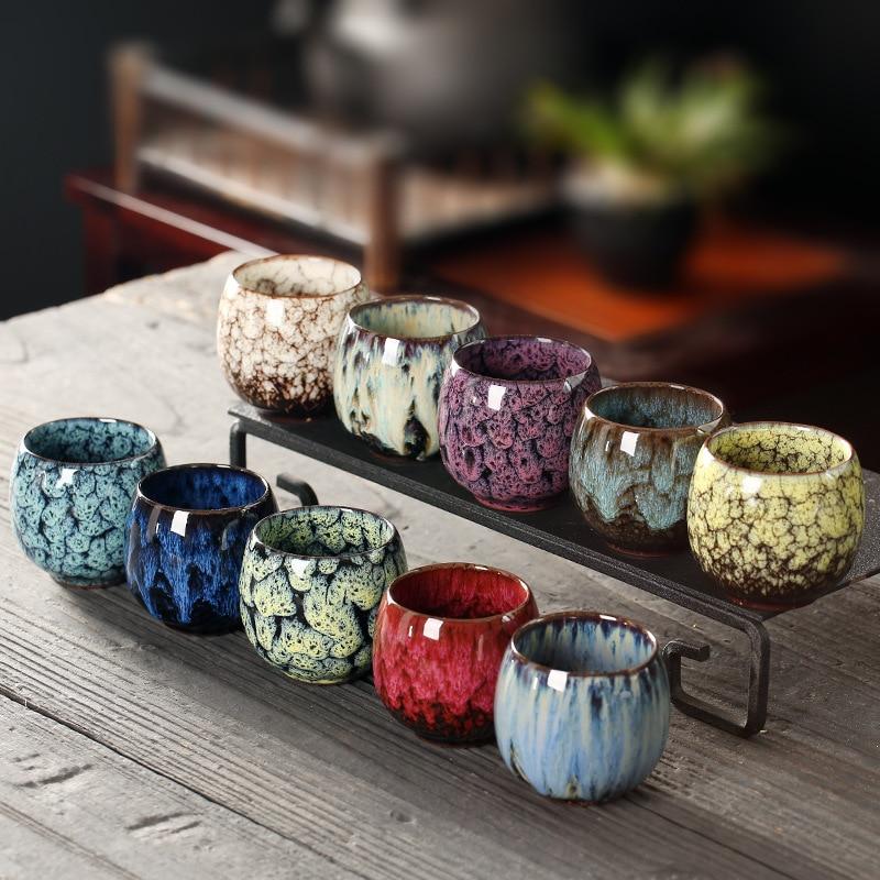 JIA-GUI LUO  110ML  Ceramic  Tea Cups  Tazas De Ceramica Creativas  Coffee Cups  China Tea Cup Kiln Change Tea Cup I073