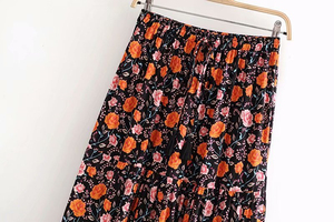 Image 2 - Đầm Sang Trọng Nữ Họa Tiết Bãi Biển Bohemia Váy Nữ Cao Lưng Thun Rayon Chữ A Boho Maxi Váy Femme
