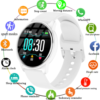 LIGE New Smart Watch Women Men watch For Android IOS Electronics Clock Fitness Tracker Silicone Strap Smart-watch