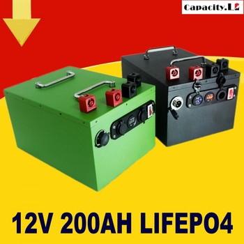 12V battery lifepo4 200ah 70ah 40ah rechargeable lithium battery 100AH with BMS Used for outdoor engine special car and RV image