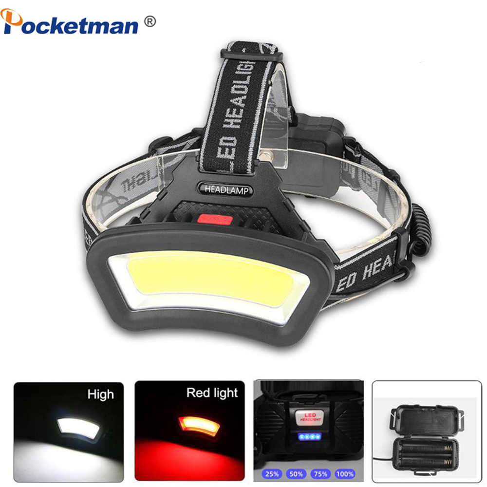 80000LM LED Headlamp COB Induction Headlight USB Rechargeable Head Lamp Torch