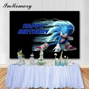 InMemory мультфильм вечеринка для мальчика день рождения фон для фотосъемки звуковой Кид '1-й День рождения фоны фотостудия реквизит 7X5FT