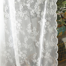 European White lace sheer curtains for living room bedroom window tulle curtain drapes serape home decor cheap verahome Translucidus (Shading Rate 1 -40 ) Left and Right Biparting Open Side Installation Floral Flat Window Japanese and Korean