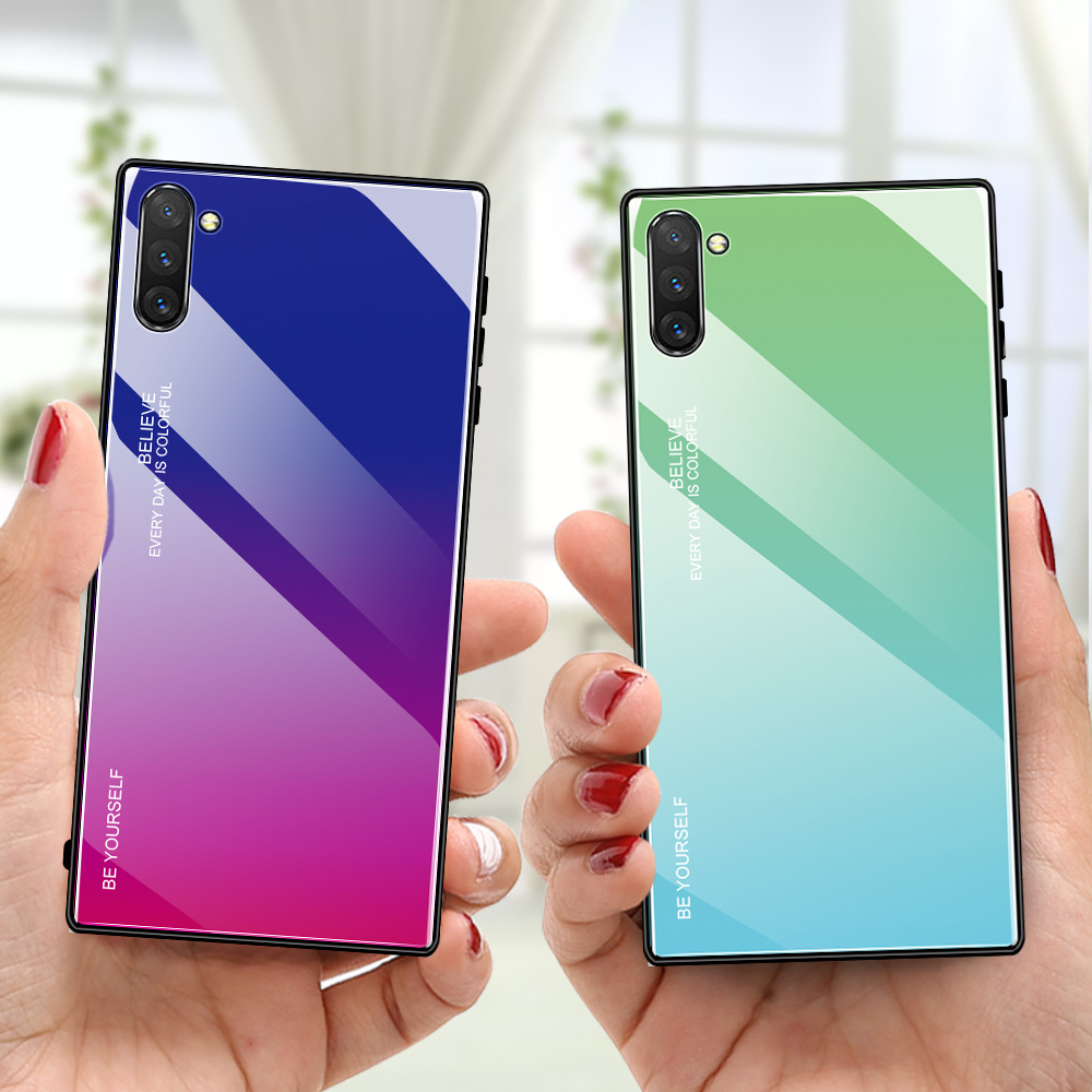 Tempered Glass Case For <font><b>Samsung</b></font> Galaxy Note 10 9 8 S10 S9 S8 Plus A10 A20E A30 A40 A50 A60 A70 M10 M20 M30 A6 A7 <font><b>A8</b></font> Phone Cover image