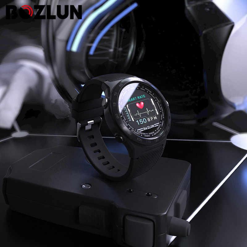 Bozlun W31 1.44 Inch Full Màn Hình Cảm Ứng Nam Đồng Hồ Thông Minh Nam Đo Nhịp Tim IP68 Chống Thấm Nước Đồng Hồ Thông Minh Smartwatch Cho Android IOS điện Thoại