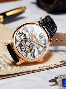 Casual Watches Automatic-Watch Tourbillon Tiger/rt Luxury Alligator-Strap Men for