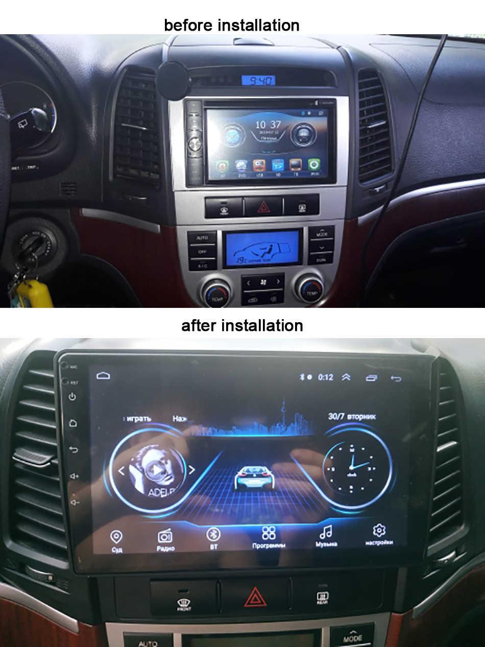 Android 9.0 jednostka 2G + 32G Radio samochodowe multimedialny odtwarzacz wideo dla Hyundai Santa Fe 2 2006-2012 nawigacja do pojazdu GPS 2 din no dvd
