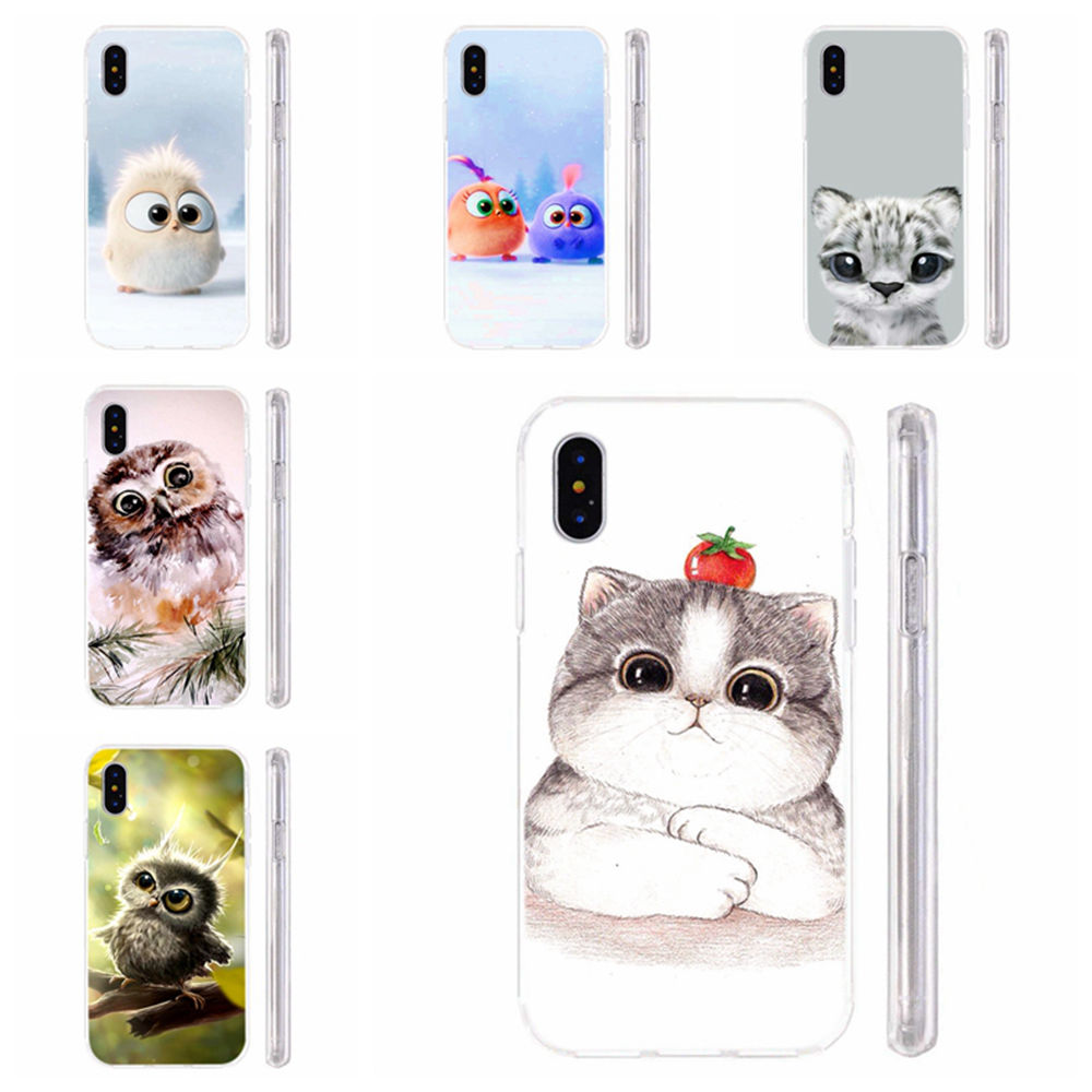 <font><b>Case</b></font> For <font><b>iPhone</b></font> 6 6s 7 <font><b>8</b></font> Plus 11 Pro x xs xr max Cover Cute animal <font><b>cat</b></font> series background image Soft TPU Shell Phone <font><b>Case</b></font> 300 image