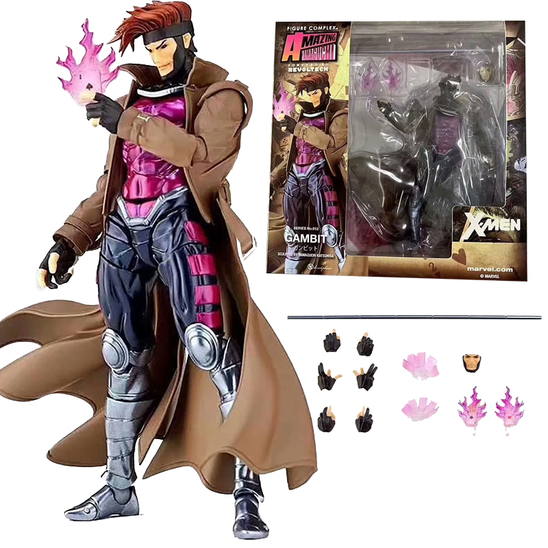 Marvel Amazing Yamaguchi Revoltech GAMBIT X-MEN series NO.012 Action Figure Toy Doll Gift For Kids