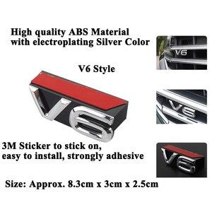 Image 3 - 1pc SEEYULE カスタマイズされた車フロントグリル V6 エンブレムグリル装飾 ABS シルバーステッカーアクセサリー vw フォルクスワーゲントゥアレグ 2019