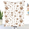 Cute Dog Paw Puzzle Throw Blanket Sherpa Blanket Bedding soft Blanket