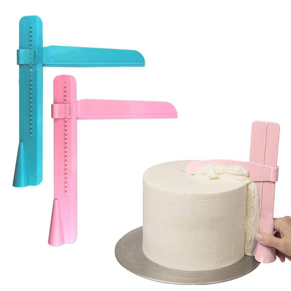 Adjustable <font><b>Cake</b></font> <font><b>Scraper</b></font> <font><b>Smoother</b></font> Fondant Spatulas <font><b>Cake</b></font> Edge <font><b>Smoother</b></font> Cream Leveling Device DIY Baking Tools <font><b>Cakes</b></font> Pastry Spatu image
