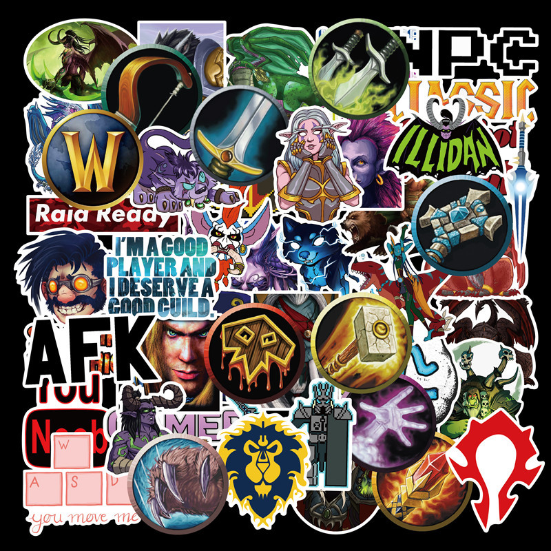 50 Pcs Aliauto World Of Warcraft Tribal Hero Reflective Car Sticker And Decla For Ford Focus Honda Volkswagen