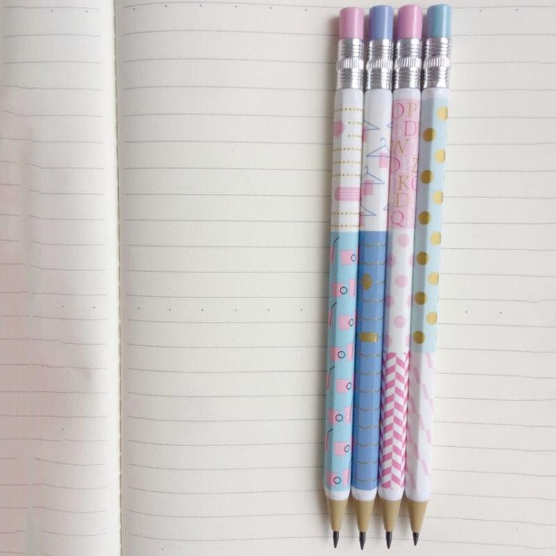 30 pcs lote nova serie padrao simples 2 0mm desenho de escrita atividade lapis automatico com
