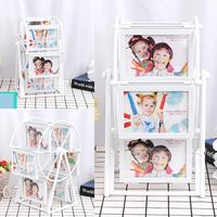 Home Decor 5 Inch 12 Photos Home, Bedroom DIY Ferris Frames Wheel Rotatable Picture Ornaments Frames Frame