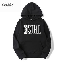Ster Labs Hoodie Zwart Hooded Man De Flash Hoodies Sweatshirt Jumper Gotham City Comic Boeken Superman Trui Star Labs Hoody(China)