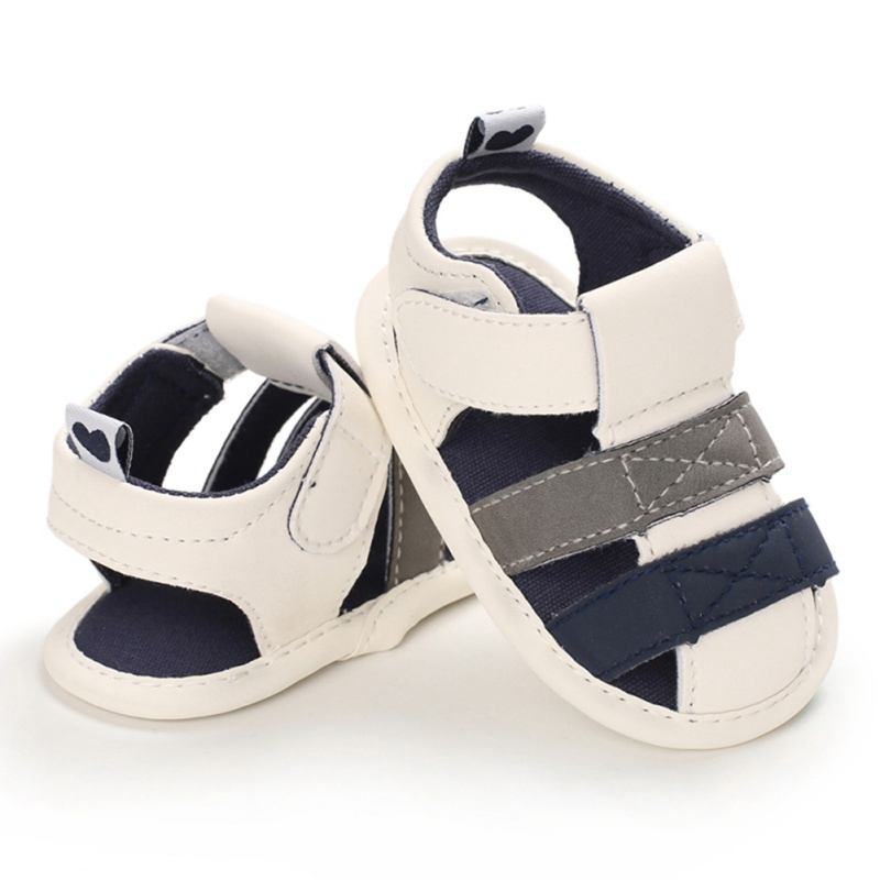 Newborn Baby Boys Fashion Summer Soft Crib Shoes Children Bebe Boys Casual First Walker Anti Slip Shoes Soft Sole Sneaker 2020