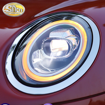 SNCN Car Styling LED Headlight Assembly For BMW Mini F55 F56 F57 Cooper Colorful Start Turn Signal Light LED DRL Head Lamp