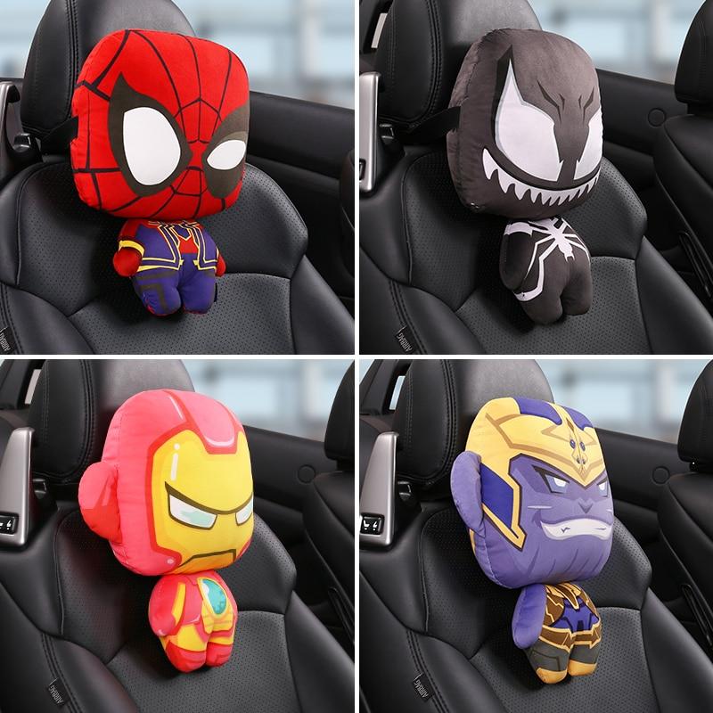 assento de carro pescoco travesseiro super heroi encosto de cabeca do carro almofadas para o pescoco