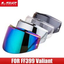 LS2 Valiant FF399 Visiera del casco Con Anti fog Fori di Patch Arcobaleno Fumo Colorato Argento Lente di Ricambio casco moto