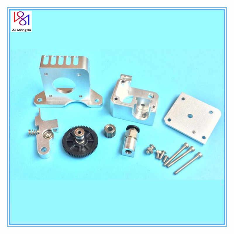 Extrusora de metal para impressora 3d, extrusora universal de titan aero para impressora 3d 1.75mm para impressora prusa i3 mk2 bowden extrusor