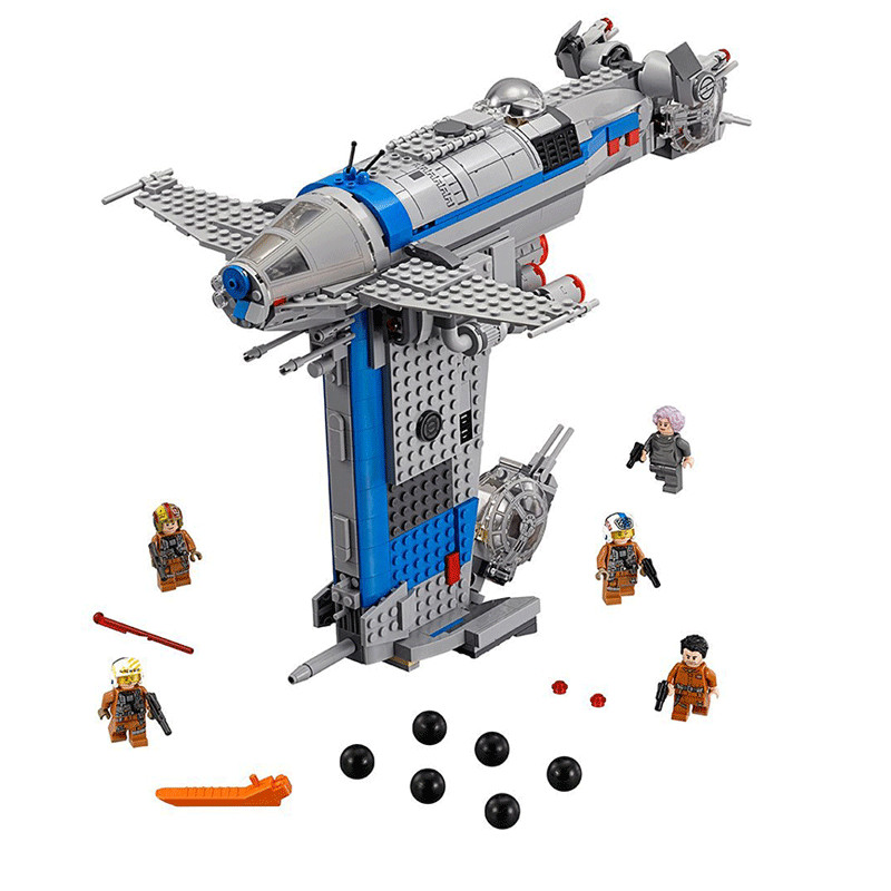 10914 873Pcs 05129 Rebel Bomber Set Genuine Star Toys Wars Series Building Blocks Bricks Gifts for children <font><b>75188</b></font> image