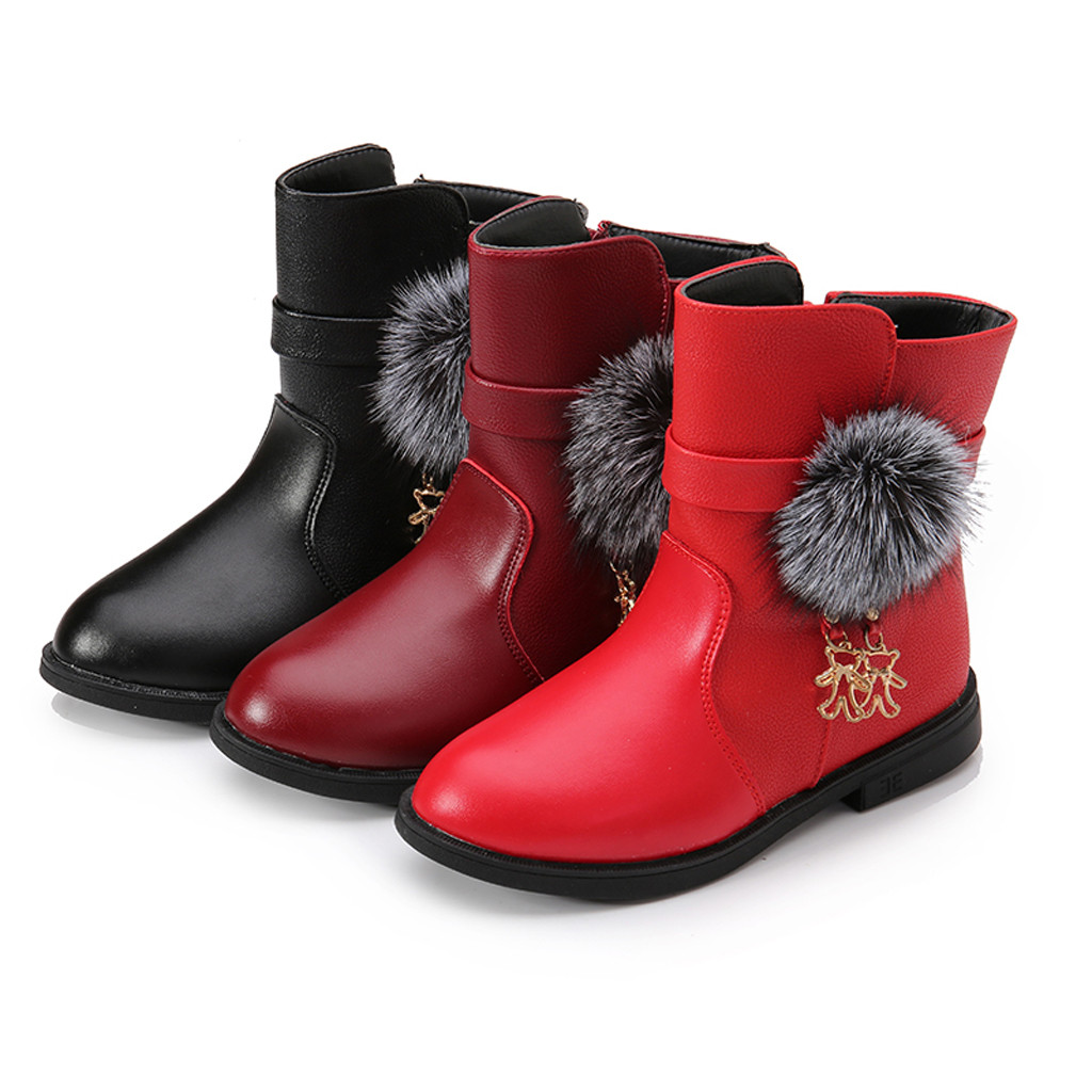 CYBLING Girls Winter Autumn Fashion Martin Boots Slip on Waterpoof Toddler//Little Kid