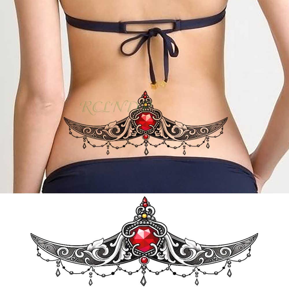 Su geçirmez geçici dövme etiket elmas kristal kına seksi meme göğüs bel flaş dövme büyük boy sahte dövme kadınlar kız için