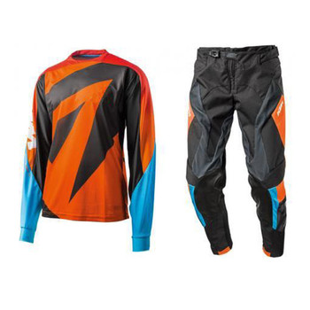 2020 Orange MX Motocross Gear Set Moto Dirt Bike Off Road Motorcycle Jersey and Pants Suit MX MTB ATV DH Breathable Jersey Set 2017 naughty fox mx shiv 360 motocross gear set off road racing suit motocross jersey and pants