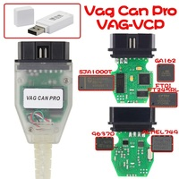 VAG PRO CAN BUS+UDS+K line S.W Version 5.5.1 FTDI FT245RL Chip VCP Com OBD2 Diagnostic Interface USB Cable vag can pro+dongle