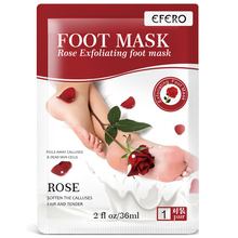 EFERO 1Pair=2Pcs Foot Mask Baby Feet Exfoliating for Legs Cracked Heels Remove the Skin Smooth Rose Peeling