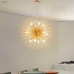 Nordic artystyczne LED aluminium dmuchawiec żyrandol lampy wiszące dekoracyjne oprawa oświetleniowa Led złoty żyrandol w Wiszące lampki od Lampy i oświetlenie na