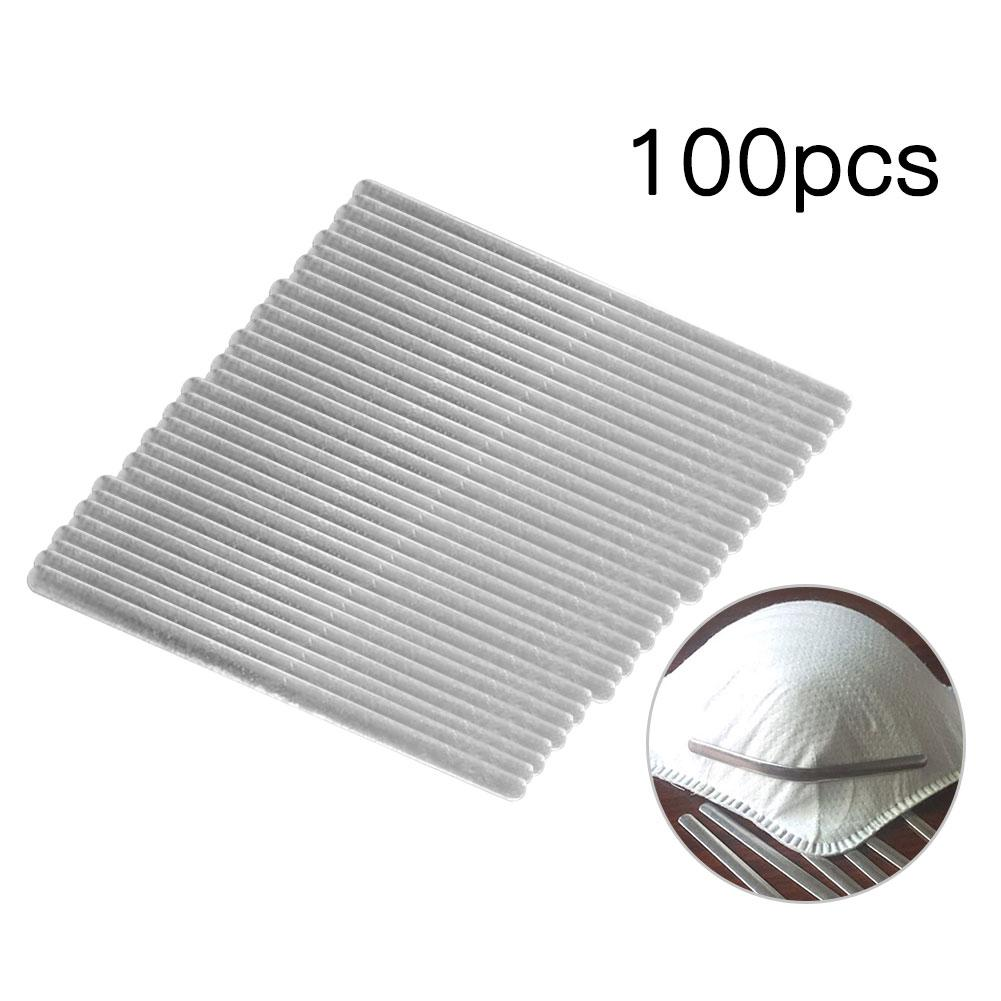 100pcs/pack DIY Aluminum Adjustable Elastic Nose Bridge Clips For Masks High-quality Mask Bands For Disposable Masks