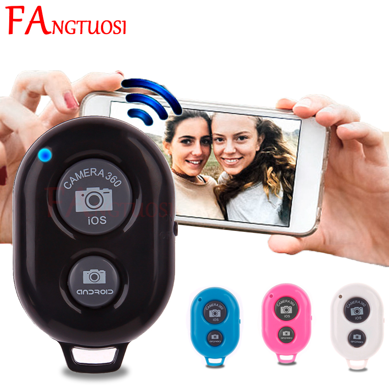 FANGTUOSI Wireless <font><b>Shutter</b></font> <font><b>remote</b></font> control Phone Self Timer button <font><b>camera</b></font> controller adapter photo control for iPhone Android IOS image