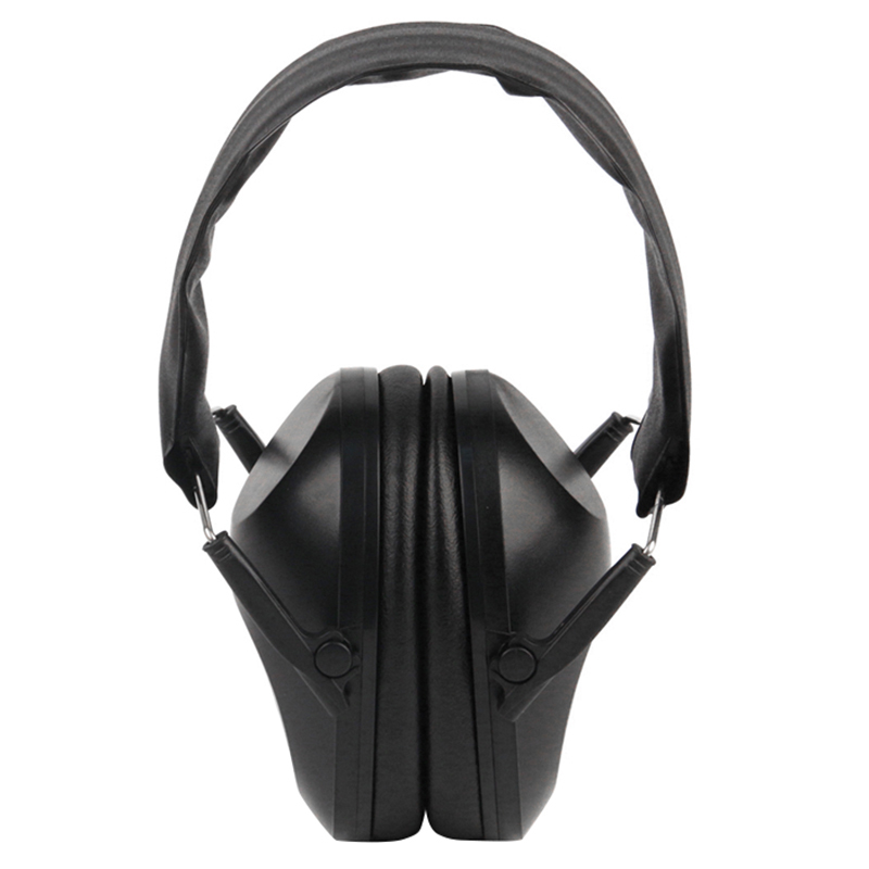 Foldable Hearing Ear Protection Hunting Sports Ear Muff Noise Cancelling Earmuff Ear Protection Ear Plugs,Black