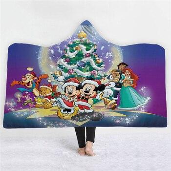 Christmas Blanket Mickey Mouse Hooded Blanket 1