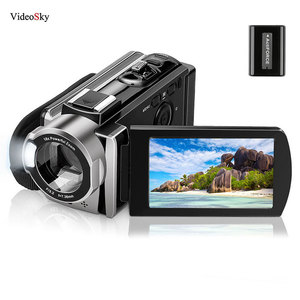 Video Camera Camcorder Digital YouTube Vlogging Camera Recorder FHD 1080P 24MP 270 Degree Rotation 16X Digital Zoom Recordor