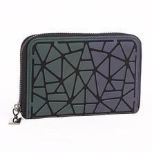2019 new coin purse womens luminous zipper bag Korean Lingge card set short small wallet