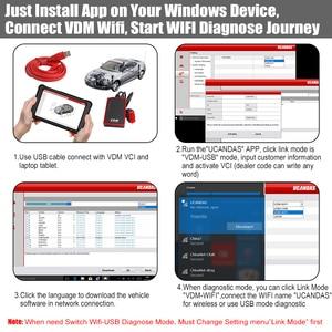 Image 5 - UCANDAS VDM OBD2 tarayıcı profesyonel tam sistem Obd 2 otomotiv tarayıcı WIFI çoklu dil araba teşhis aracı ücretsiz güncelleme