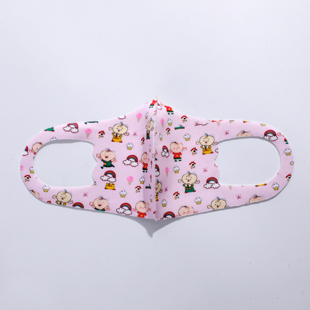 Wholesale Kids Cartoon Printing Mouth Mask Anti-Dust Flu Breathable PM2.5 Cotton Face Nose Mask Cover With Filter Respirator 4