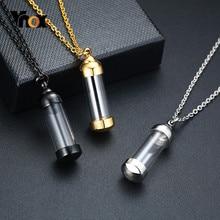 Vnox – collier Tube creux en acier inoxydable unisexe pour femme et homme, pendentifs commémoratifs de crémation, bijoux cadeaux
