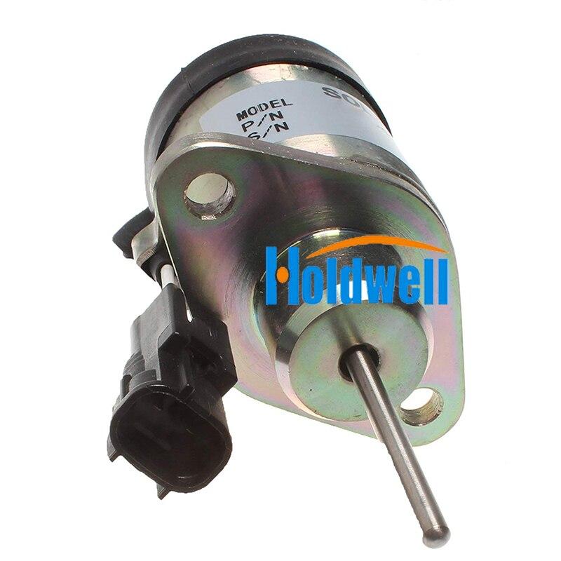 For Kubota Actuator Solenoid D1503 V2203 Fuel Shutoff Solenoid 1G939 60010 12V Valves & Parts     - title=