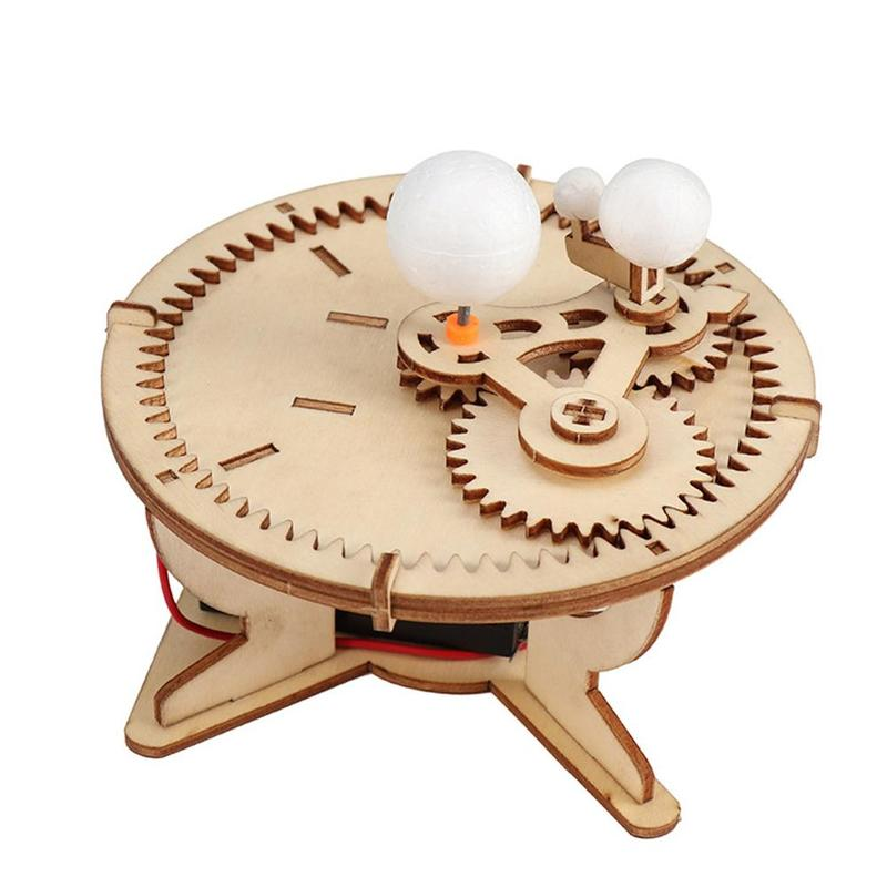 Montessori DIY Solar System Toy Astronomy Gifts Wooden Sun Earth Moon Planet Solar System Model Science Geography Toys
