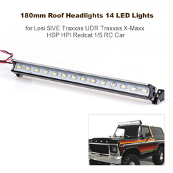 180mm Roof Headlights 14 LED Lights for 1/5 RC Car Losi 5IVE Traxxas UDR Traxxas X-Maxx HSP HPI Redcat RC Off-Road Dome