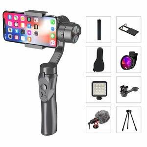 Image 1 - 3軸ハンドヘルドジンバルスマートフォンスタビライザーusb充電ビデオ録画のサポートユニバーサル調節可能な方向vlogライブ